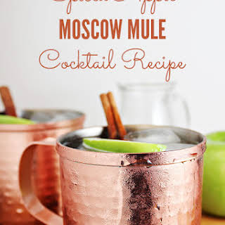 Spiced Apple Moscow Mule Cocktail.
