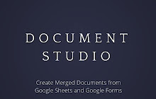 Document Studio Google Sheets Addon - Video game pitch document template