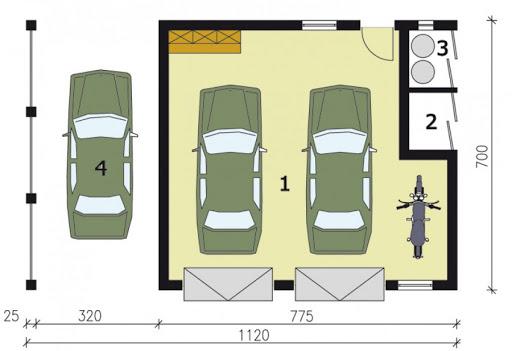 G179 - Rzut garażu