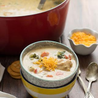 Cheesy Chicken & Veggie Chowder