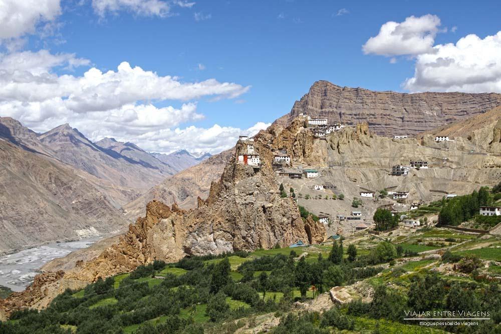 O vale de Spiti de Kaza a Tabo, passando por Dhankar, Lhalung e vale de Pin   Índia