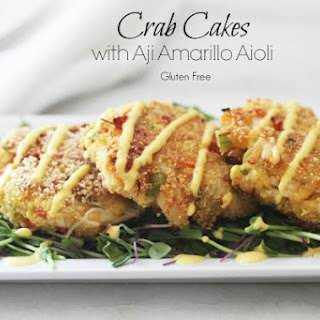 Crab Cakes with Aji Amarillo Aioli