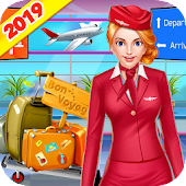 Cabin Crew Flight Manager: Girls Airport Adventure Android APK Download Free By Crazy Game House