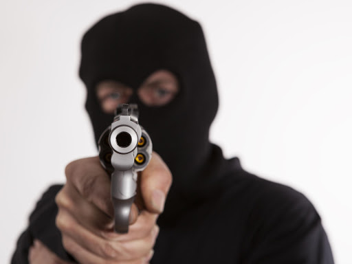 An armed robber. File photo.