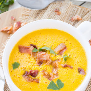Spicy Roasted Butternut Squash Soup