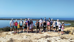 Grupo de participantes en el los itinerarios didácticos en Punta Entinas Sabinar.