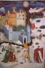 """Photo: Mastro Venceslao, """"Ciclo dei mesi del castello del Buoconsiglio a Trento - Gennaio"""" (sec. 1397 ca.)"""