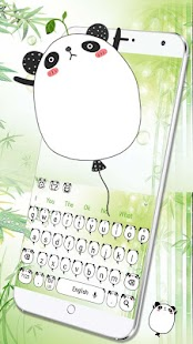 Roztomilý panda balón - náhled