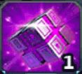 紫パーツのカケラキューブ
