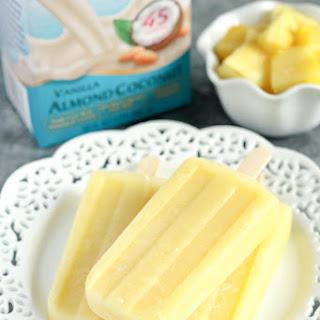 Coconut Pineapple Popsicles.