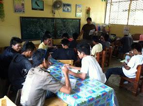 Photo: Adrien Uichico with students