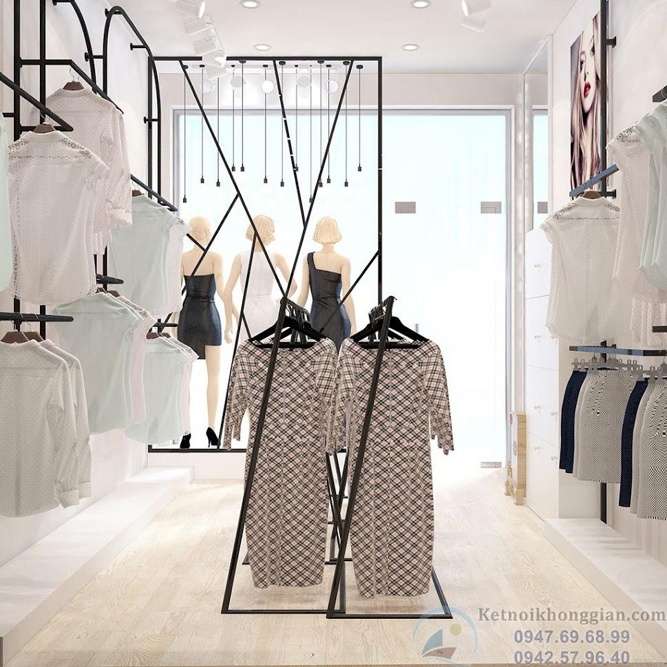 thiết kế cửa hàng thời trang công sở nữ
