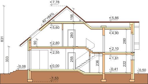 Dom przy Cyprysowej 9 - Przekrój