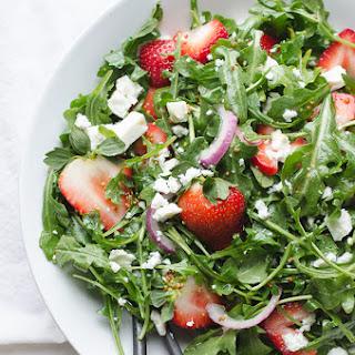 Baby Arugula and Strawberry Salad with Feta