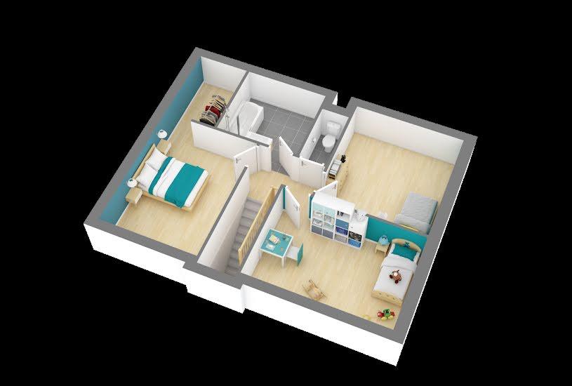 Vente Terrain + Maison - Terrain : 363m² - Maison : 80m² à Ambillou (37340)