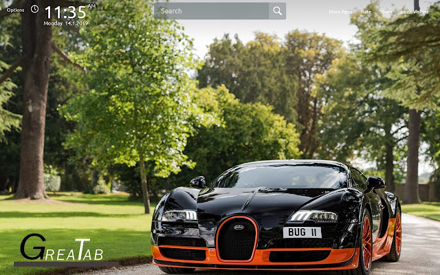 Ferrari and Bugatti Wallpapers Theme|GreaTab