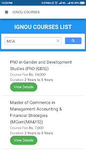 Ignou Course Finder for PC-Windows 7,8,10 and Mac apk screenshot 4