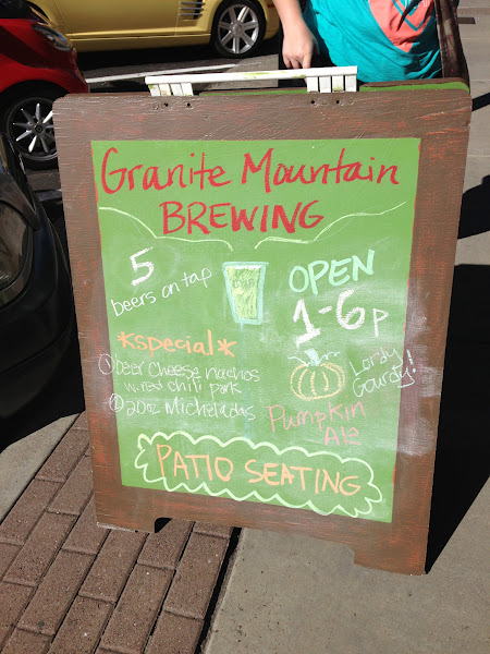 Photo: We also hit up Granite Mountain Brewing.