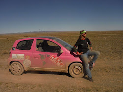 The Mongol Rally and the Pink Yak in Mongolia with driver Krystal Kelly