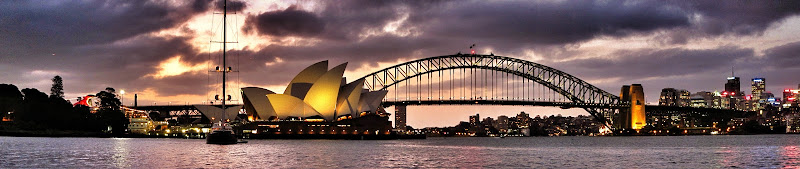 Photo: Panorama - Sydney Harbour Bridge and Opera House