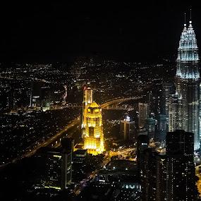 Kuala Lumpar Skyline by Anthony Lau - Travel Locations Landmarks ( landmark, klcc, skyline, building, pwclandmarks, business district, malaysia, kuala lumpar, commercial )