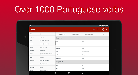Portuguese Verb Conjugator- screenshot thumbnail