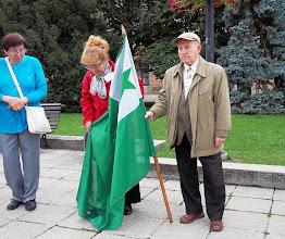 Photo: Flago kaj popoloj