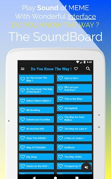 DO YOU KNOW THE WAY ! SoundBoard 2018 MEME apk screenshot