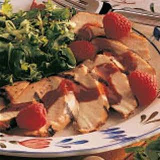Chicken with Raspberry Sauce.