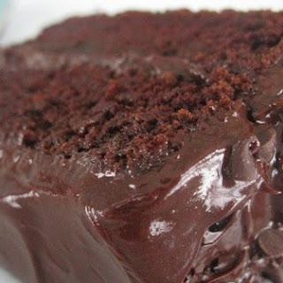 Chocolate Cake with Dark Chocolate Frosting.