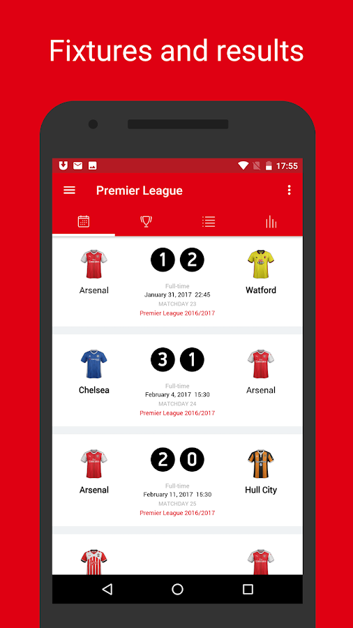 AFC Live — unofficial app for Arsenal FC Fans- screenshot