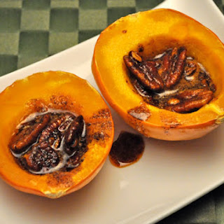 Acorn Squash with Spiced Pecans.