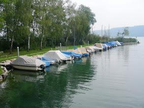 Photo: Le port de petite batellerie de Cerlier