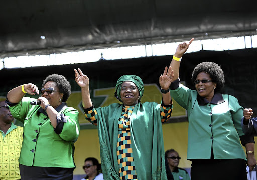 Nkosazana Dlamini Zuma reacts during the prayer party orginised by the Dlamini Clan in her home Bulwer, KwaZuluNatal Midlands, yesterday.