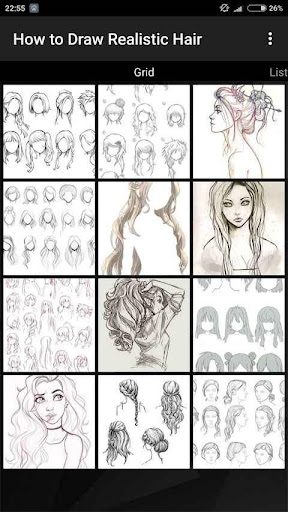 How to Draw Realistic Hair  screenshots 2