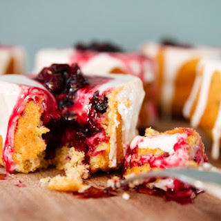 Blueberry Buttermilk Cakes.