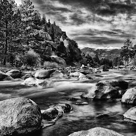 by Tony Lobato - Black & White Landscapes ( blackandwhite, black and white, waterscape, rivers, rocks,  )