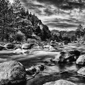 by Antonio Lobato - Black & White Landscapes ( blackandwhite, black and white, waterscape, rivers, rocks,  )