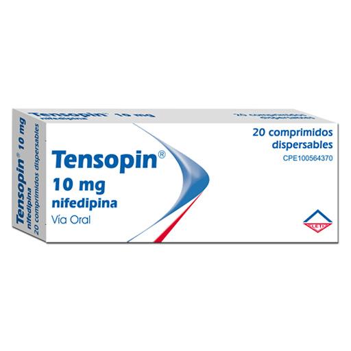 Nifedipina Tensopin 10 mg 20 Tabletas