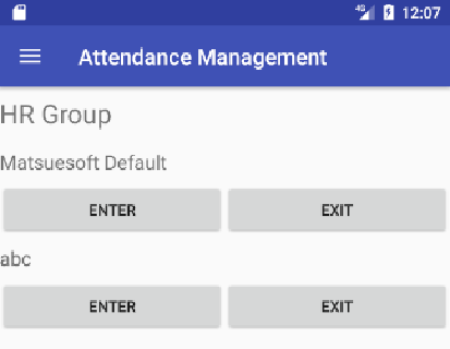 Attendance Record by User- screenshot