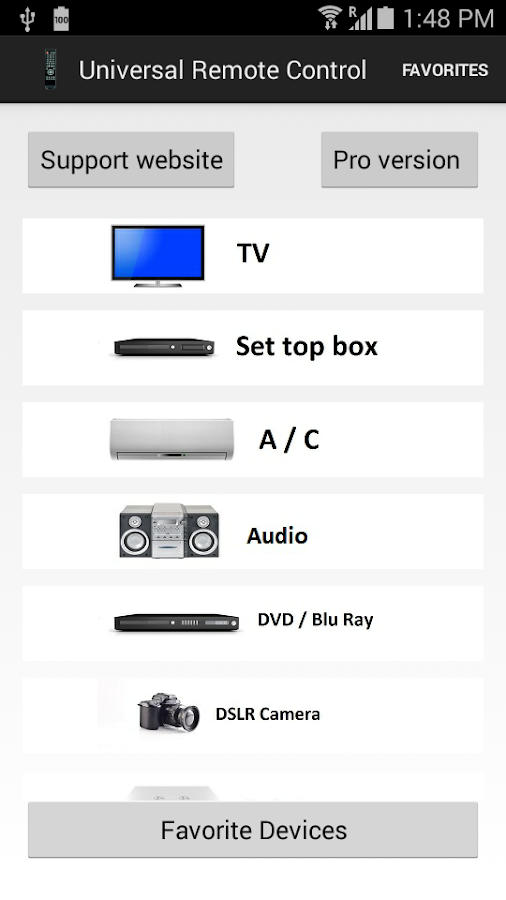 Universal Remote Control Free- screenshot