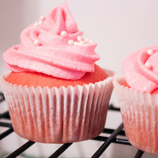 Pink Champagne Cupcakes with Strawberry Champagne Frosting Recipe