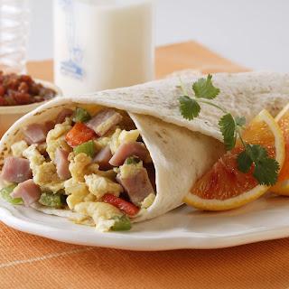 Ham and Egg Breakfast Burritos.