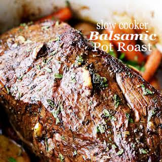 Slow Cooker Balsamic Pot Roast.