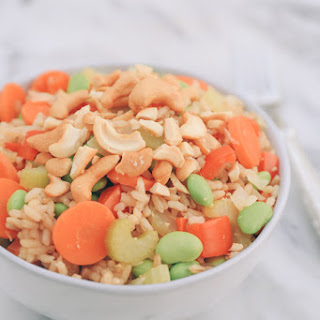 Cashew Ginger Brown Rice Bowl with Dole Premium Celery Hearts