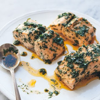 Steamed Salmon with Chermoula.