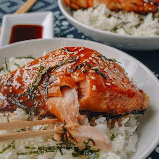 Salmon Teriyaki Bowls.