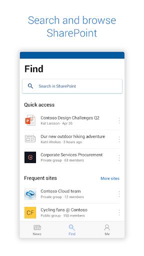 Microsoft SharePoint screenshots 1