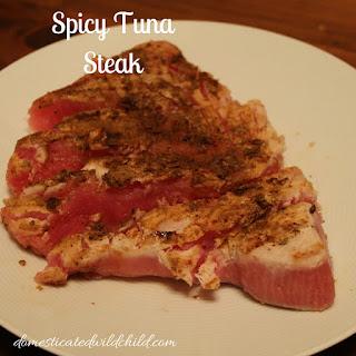 Spicy Tuna Steak.