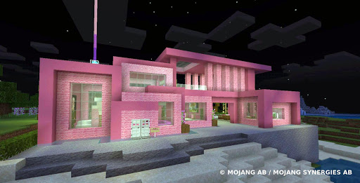 Pink house with furniture. Craft maps and mods 1.0.1 screenshots 1